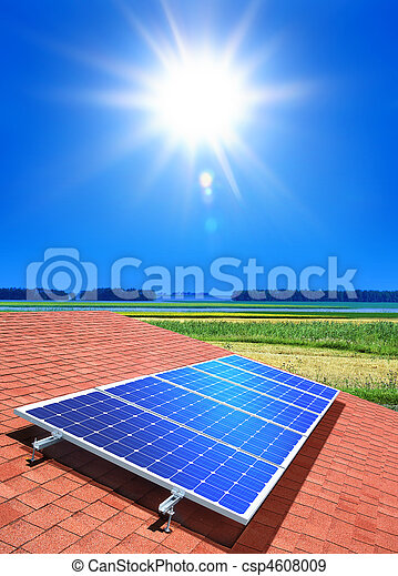 solar-cell array on roof - csp4608009