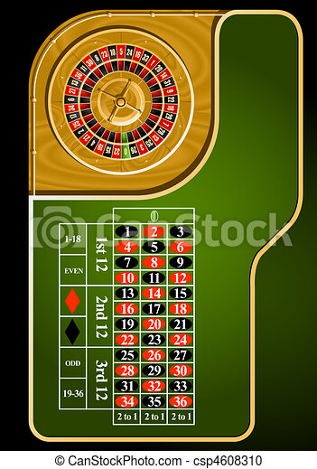 Roulette table layout - csp4608310