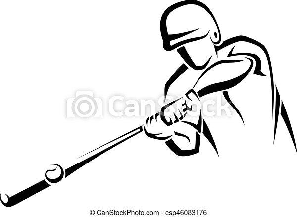 Home Run Hitter Accent - csp46083176
