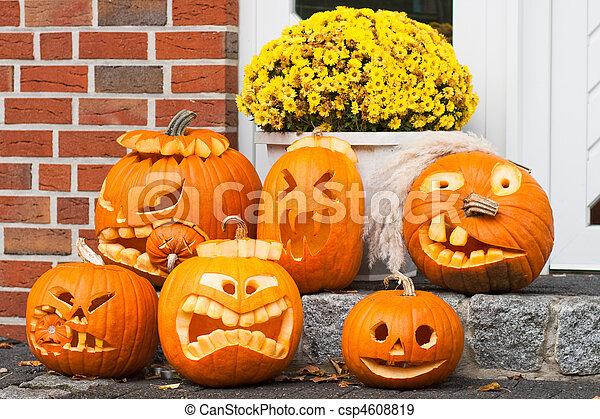 halloween pumpkins - csp4608819