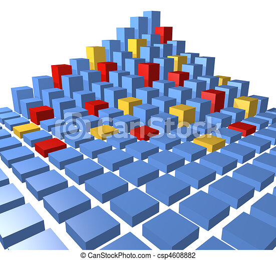 Clipart Data Cube Abstract City Block Data Cubes