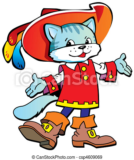 Puss in Boots. - csp4609069