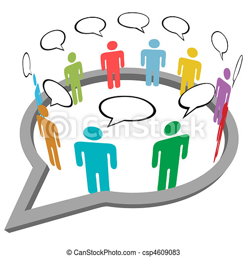 People talk meet inside social media speech - csp4609083