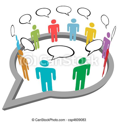 People talk meet inside social media speech - csp4609083