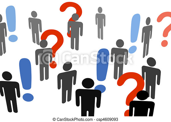 People search information exclamation question marks - csp4609093