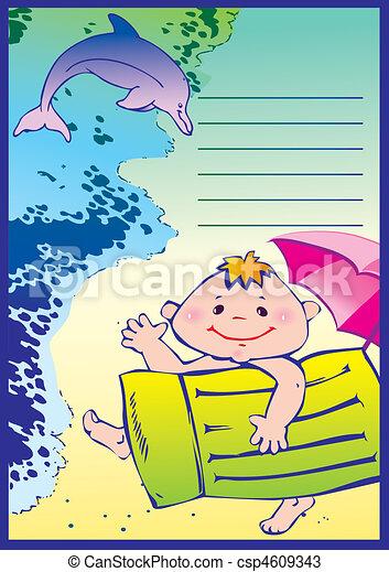 Boy on the beach. - csp4609343