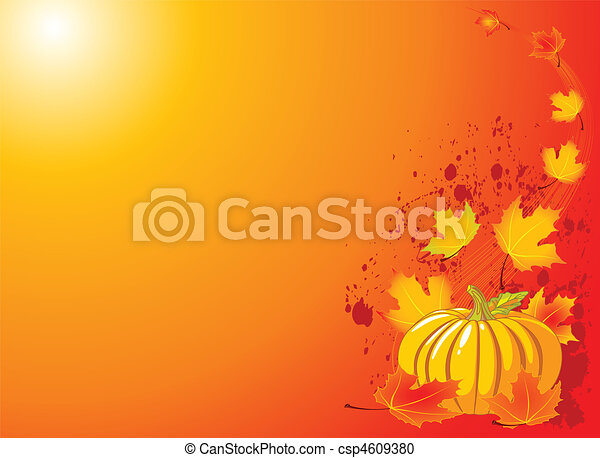 Autumn Pumpkin Background - csp4609380
