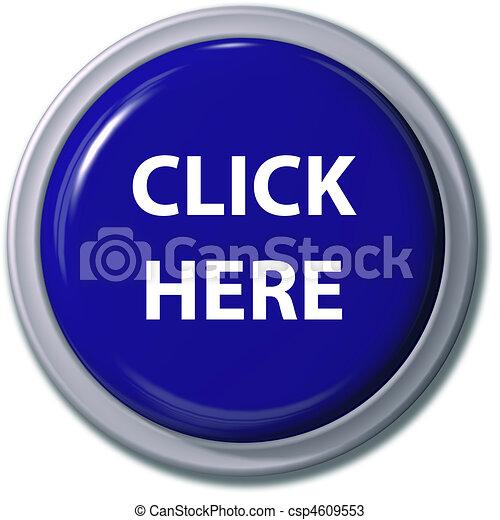 CLICK HERE blue button drop shadow - csp4609553
