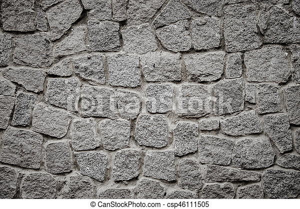 abstract background with brutal stones - csp46111505