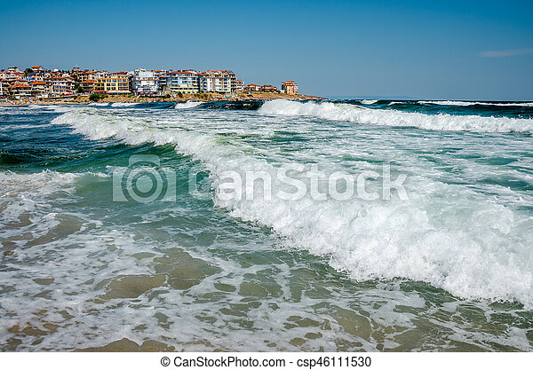 seaview with waves - csp46111530