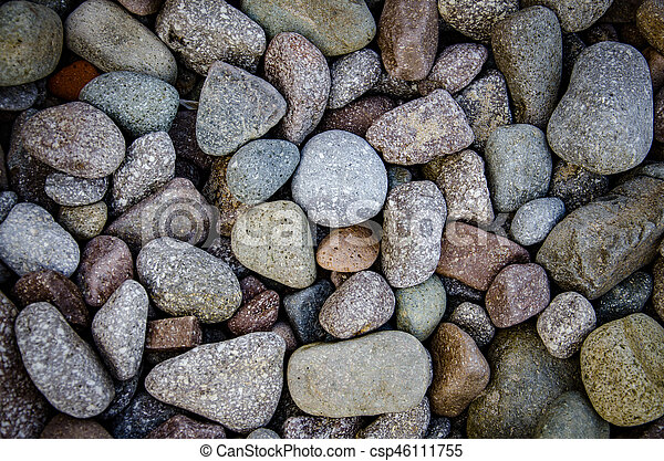 abstract background with dry round reeble stones - csp46111755