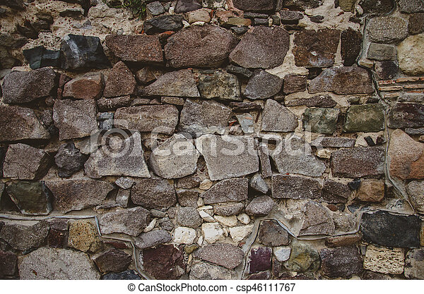 abstract background with brutal stones - csp46111767