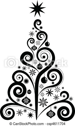 Graphic Christmas tree - csp4611704