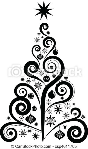 Graphic Christmas tree - csp4611705