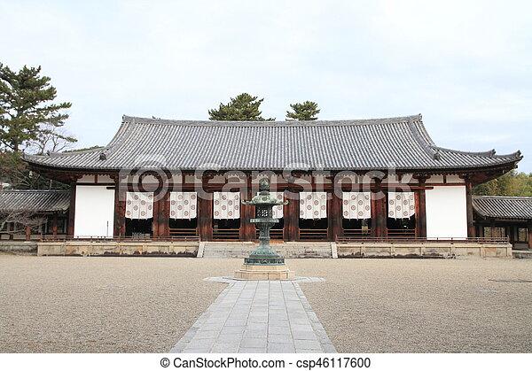 lecture hall of Horyu ji in Nara, Japan