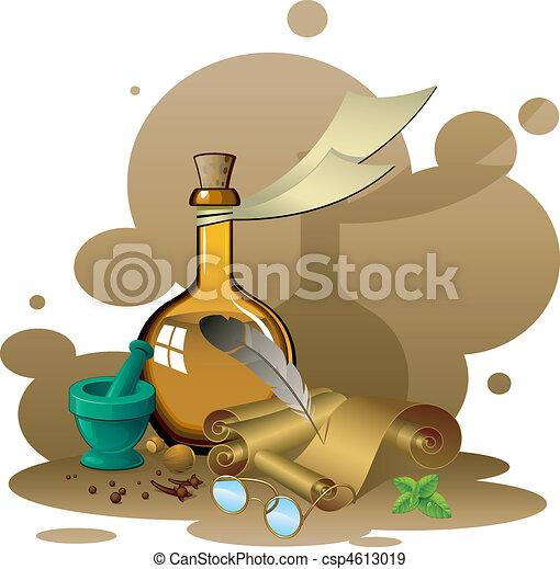 Items ancient pharmacy - csp4613019