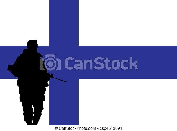 Finnish soldier - csp4613091