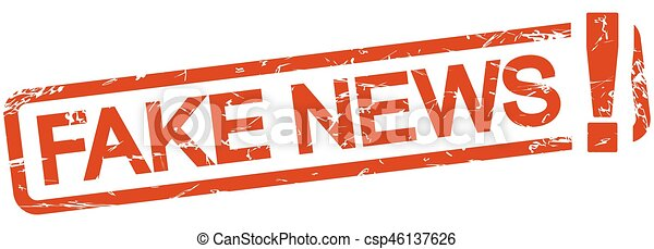 red stamp with text Fake News - csp46137626