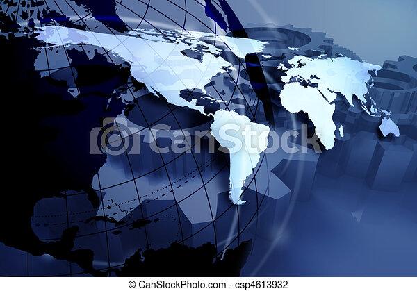 blue world map - csp4613932