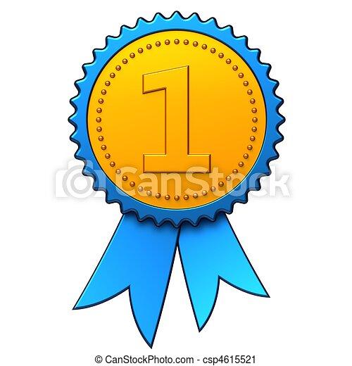 First place award ribbon (Hi-Res) - csp4615521