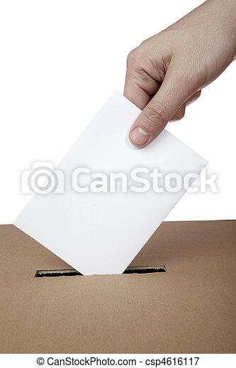 caja, opción, elección, voto, política, votación, papeleta - csp4616117