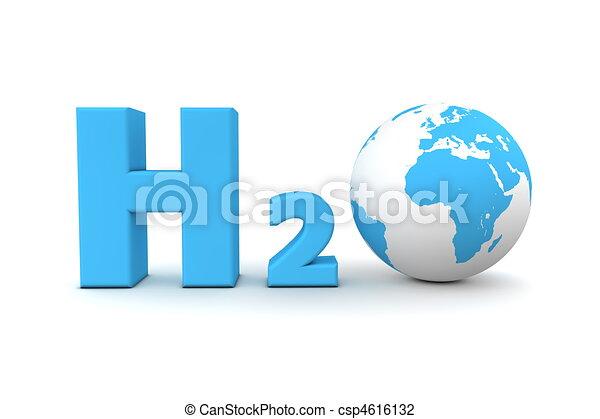Global Hydrogen Oxide H2O - Blue - csp4616132
