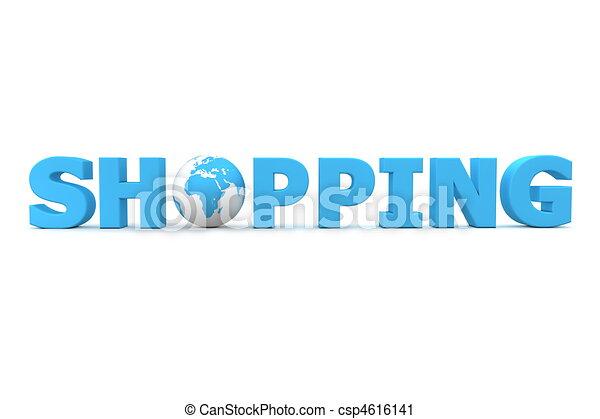 Shopping World Blue - csp4616141