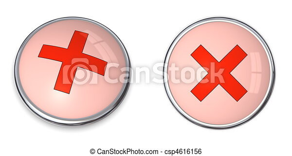 Button Cross Symbol - csp4616156