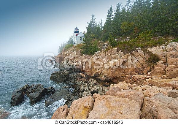 Lighthouse at Bass Harbor - csp4616246