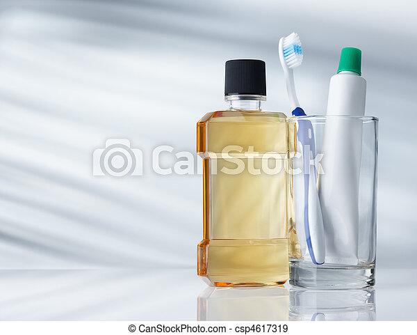 fogászati, termékek, higiénia - csp4617319