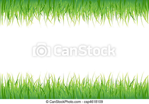 Grass On White Background - csp4618109