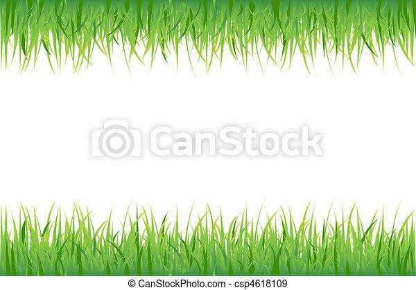 Grass On White Background - csp4618109