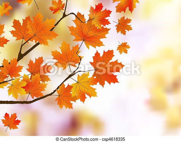 Orange autumn leaves, shallow focus. - csp4618335