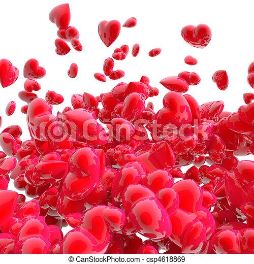 Hearts on white - csp4618869