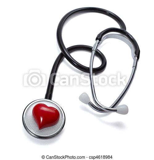 stethoscope heart health care medicine tool - csp4618984