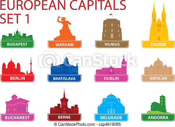 European capital symbols - csp4619085
