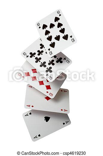 playing cards poker gamble game leisure - csp4619230