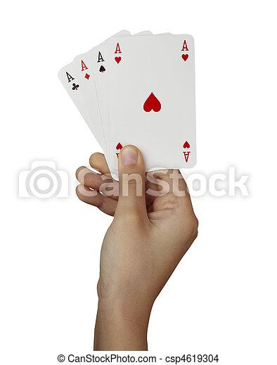 playing cards poker gamble game leisure - csp4619304