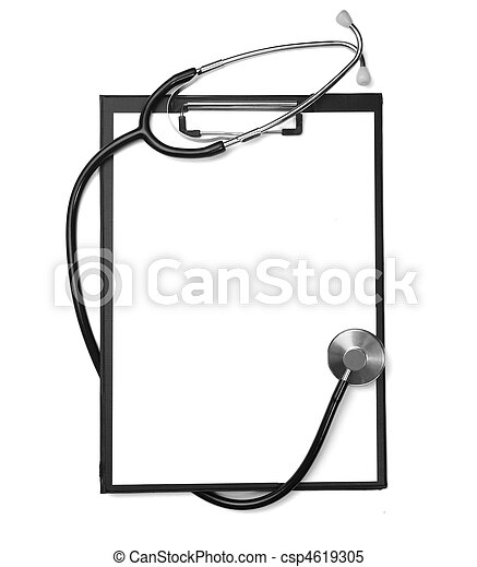 stethoscope heart health care medicine tool - csp4619305