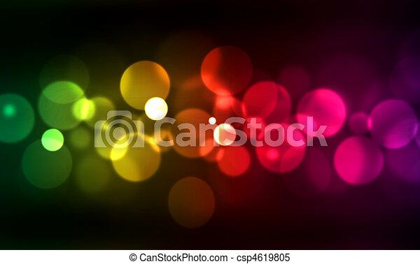 blurred lights - csp4619805