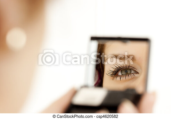 woman eye in the mirror - csp4620582