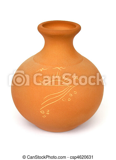 Ceramic vase with drawing - csp4620631