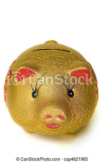 A stock photograph of a piggy bank. - csp4621965