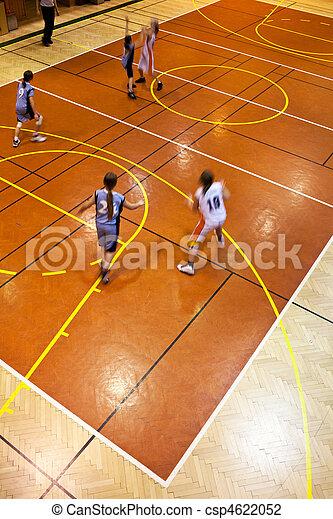 youth girls indood basketball - csp4622052
