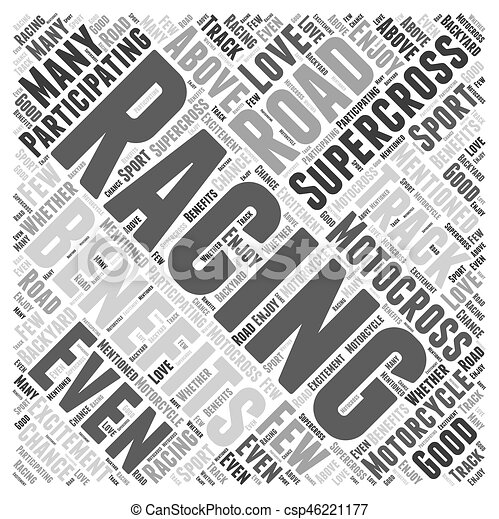 The Benefits of Participating In Supercross Motorcycle Racing Word Cloud Concept - csp46221177