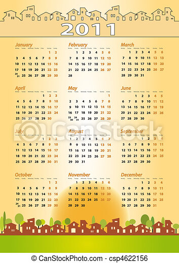 2011 Calendar - Real estate, architecture, construction company - csp4622156