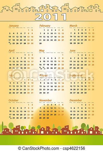 2011 Calendar - Real estate, architecture, construction company - csp4622156