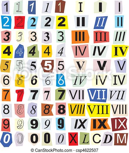 Numerals, Arabic And Roman - csp4622507