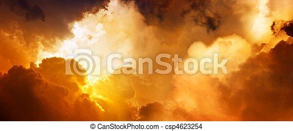 Himmel, Sonnenuntergang - csp4623254