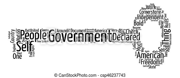 The Cornerstone of Government Word Cloud Concept Text Background - csp46237743